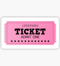 Pink ticket, isolated on white : BIG TICKET Sticker