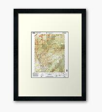 USGS TOPO Map California CA Westville 102142 2000 24000 geo Framed Print