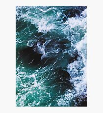 Blue Ocean Waves, Sea Photography, Seascape Photographic Print