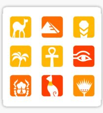 Collection of Egypt icons - pyramid, camel, scarab.. Sticker