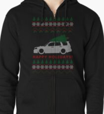 Forester Ugly Christmas Sweater (SG5) Zipped Hoodie