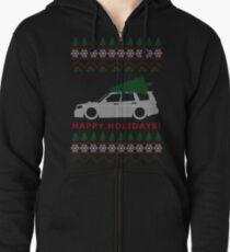 Sudadera con capucha y cremallera Suéter de Navidad de Forester Ugly (SG5)