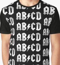 AB/CD (white on black) Graphic T-Shirt