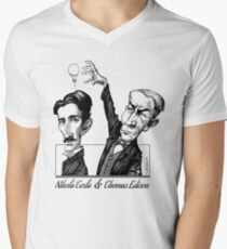 Tesla v Edison Men's V-Neck T-Shirt