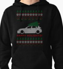 WRX STI Hatch Ugly Christmas Sweater (GR) Pullover Hoodie
