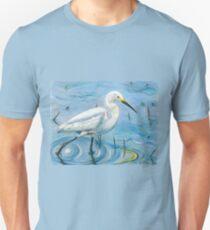 Snowy Egret's Calm Strides T-Shirt