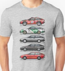 Stack of Alfa Romeo Alfetta GT and GTV6 T-Shirt