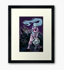 Cosmonaut Soldier On The Moon - Comics Character Framed Print