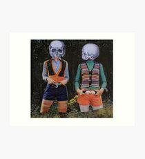 Skeleton Girls Art Print