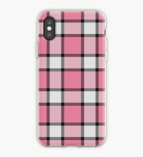 Pink, White and Black Plaid iPhone Case