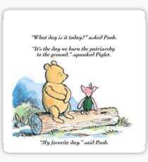 Piglet smashes the Patriarchy Sticker