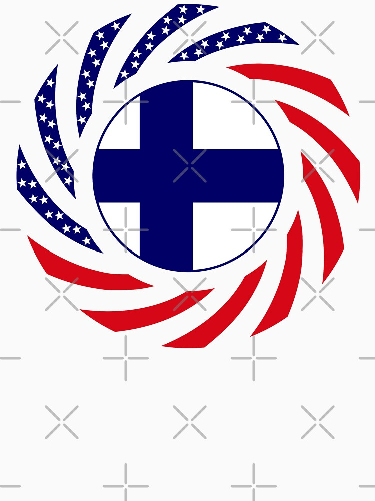 Finnish American Multinational Patriot Flag Series by carbonfibreme