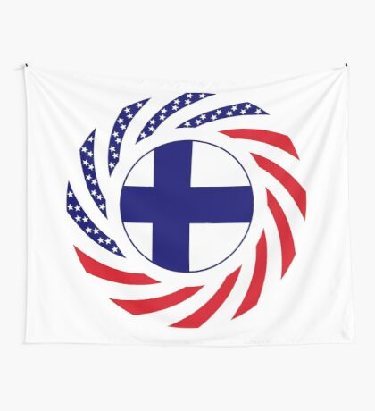 Finnish American Multinational Patriot Flag Series Wall Tapestry