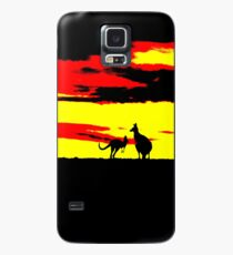 Kangaroos silhouettes at Sunset Case/Skin for Samsung Galaxy