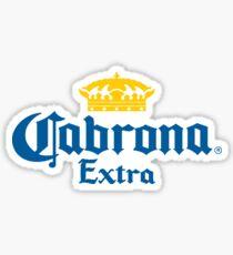 Cabrona Funny Mexican Beer Sticker