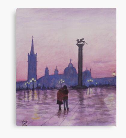 Walk in Italy in the rain Canvas Print