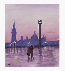 Walk in Italy in the rain Photographic Print