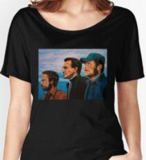 Richard Dreyfuss, Roy Scheider and Robert Shaw in Jaws Women's Relaxed Fit T-Shirt