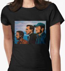 Richard Dreyfuss, Roy Scheider and Robert Shaw in Jaws Womens Fitted T-Shirt