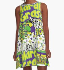 Mardi Gras  A-Line Dress