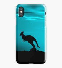 Kangaroos silhouettes at Sunset iPhone Case