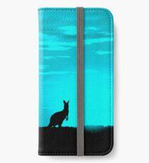 Kangaroos silhouettes at Sunset iPhone Wallet/Case/Skin