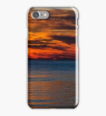 Red Blue Colington Sunset iPhone Case/Skin
