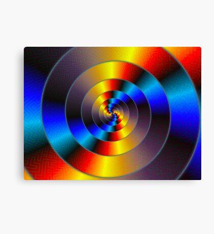 Data Spiral Canvas Print