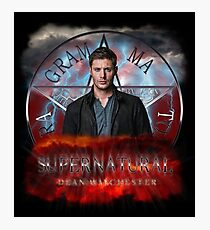 Supernatural Dean Winchester 2 Photographic Print
