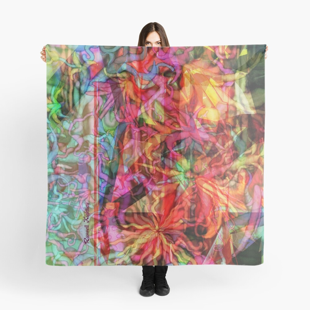 Qualia's Flowers Tower Scarf