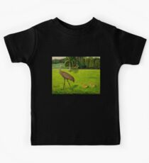 Sandhill crane with chicks Kids Tee