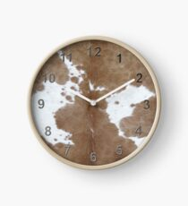 Cowhide. Clock
