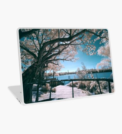 The Fig Tree in Pink And Green Laptop Skin