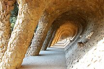 Tunnel in Parc Guell - Barcelona - Spain by Arie Koene
