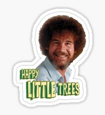 Bob Ross No Mistake Just Happy Little Trees Painter Design Sticker
