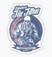 Jiu jitsu Horror Fighter Sticker