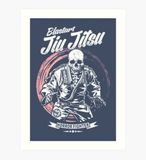 Jiu jitsu Horror Fighter Art Print