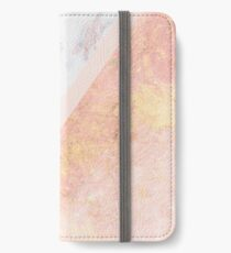 Marble & Rose Gold iPhone Wallet
