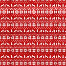 German Shepherd Dog Silhouettes Christmas Sweater Pattern by Jenn Inashvili
