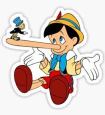 Jiminy Cricket angry with pinocchio Sticker