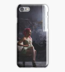 Young woman with dreadlocks wearing corset iPhone Case/Skin