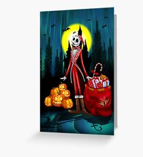 Halloween jack santa claus skellingtons Greeting Card