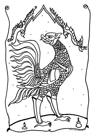 Thai Rooster by John Douglas