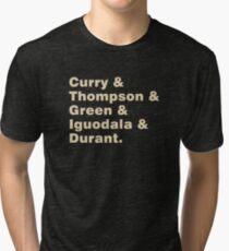 Curry & Thompson & Green & Iguodala & Durant Tri-blend T-Shirt