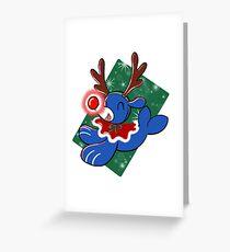 Water Reindeer Greeting Card