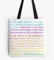 Foolish Shakespeare by IdeaJones Tote Bag