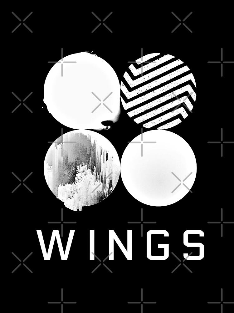 BTS Wings Logo (Black) by 5Mins2Midnight