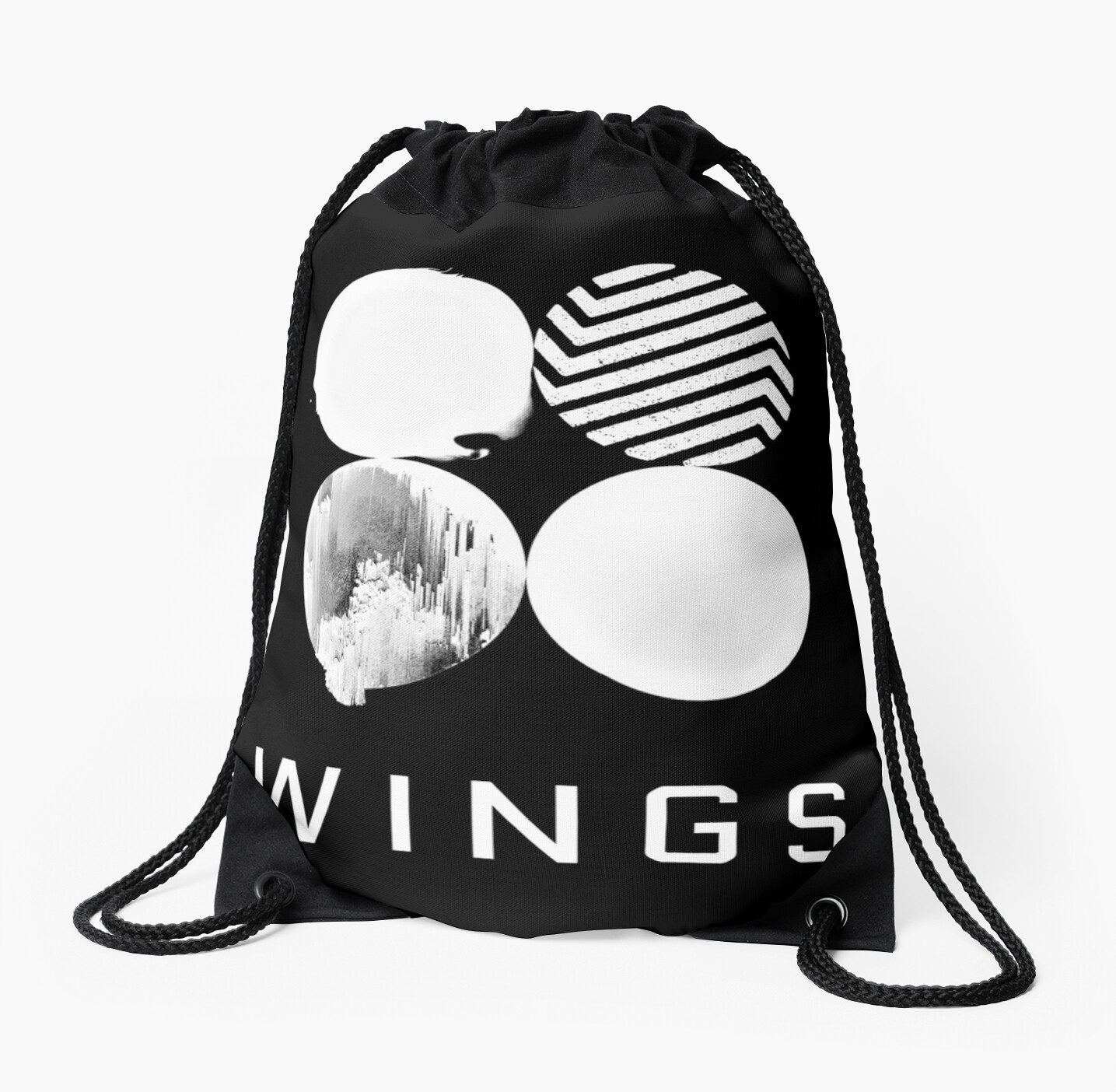BTS Wings Logo (Black)