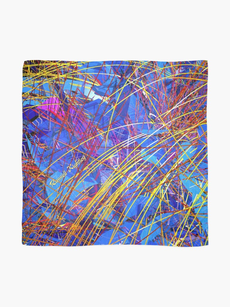 Alternate view of Abstract Fireworks Scarf