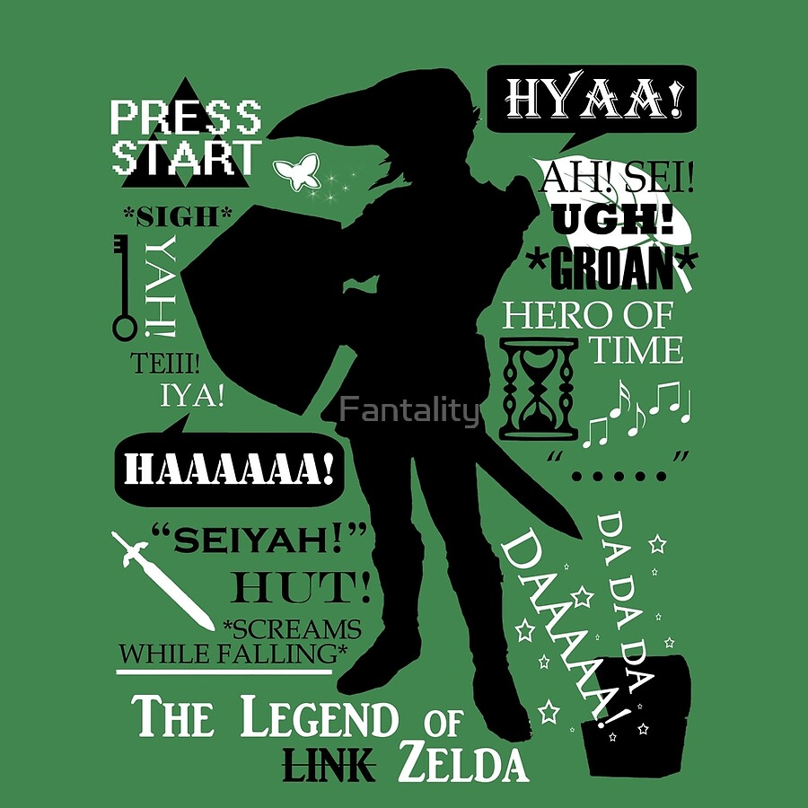 "Zelda Quotes Legend Of Zelda  Link ""quotes"""" Clocksfantality  Redbubble"